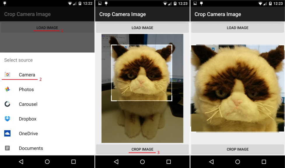Android cropping image from camera or gallery « The Art of Dev